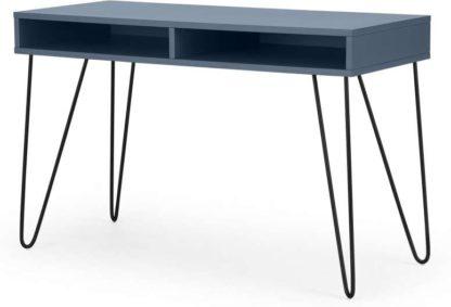 An Image of Elona Console Desk, Slate Blue & Black