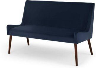 An Image of Higgs Upholstered Bench, Royal Blue Velvet