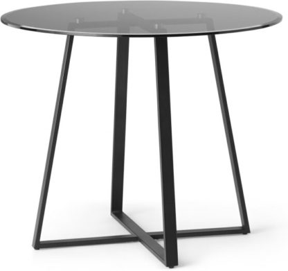 An Image of Haku 2 Seat Round Dining Table, Black