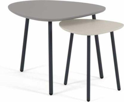 An Image of Nyla Nesting Tables, Tonal Grey