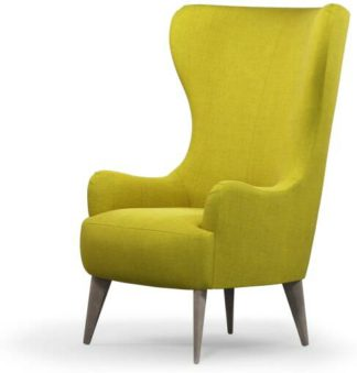 An Image of Bodil Accent Armchair, Light Moss with Light Wood Leg