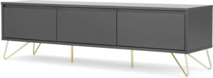 An Image of Elona Wide Media Unit, Charcoal & Brass