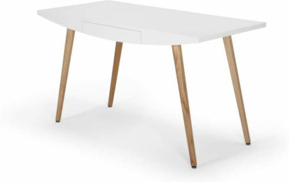 An Image of Camber Desk, White and Oak