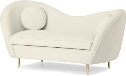 An Image of Kooper 2 Seater Sofa, Whitewash Boucle