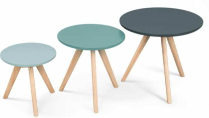 An Image of Set of 3 Orion Side Tables, Blue