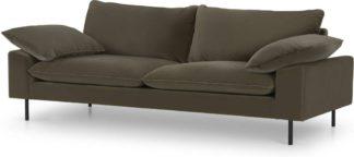 An Image of Fallyn 3 Seater Sofa, Cypress Cotton Velvet