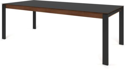 An Image of Custom MADE Corinna 10 Seat Dining Table, Grey HPL and Black