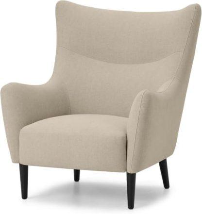 An Image of Bridget Accent Armchair, Natural Cotton & Linen Mix Fabric