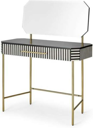 An Image of Noorali Dressing Table, Black & White Resin