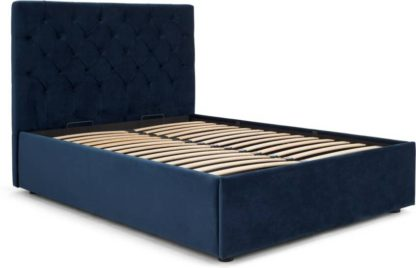 An Image of Skye Super King Size Ottoman Storage Bed, Royal Blue Velvet
