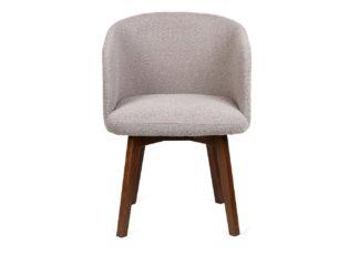 An Image of Heal's Edit Swivel Office Chair Copenhagen Grey Walnut Stain Leg