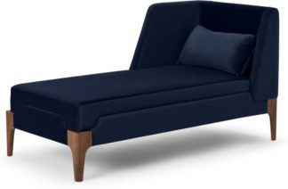 An Image of Roscoe Left Hand Facing Chaise Longue, Royal Blue Velvet