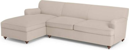 An Image of Orson Left Hand Facing Chaise End Sofa Bed, Natural Weave