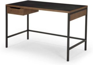 An Image of Depot Desk, Dark Stain Pine Wood