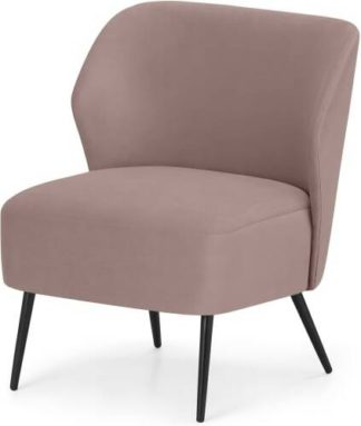 An Image of Topeka Accent Armchair, Pearl Pink Velvet