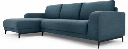 An Image of Luciano Left Hand Facing Chaise End Corner Sofa, Orleans Blue
