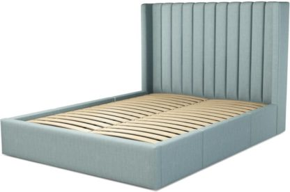 An Image of Custom MADE Cory Super King size Bed with Drawers, Sea Green Cotton
