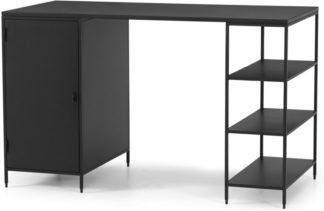 An Image of Solomon Wide Desk, Black