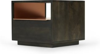 An Image of Anderson Bedside Table, Mocha Mango Wood & Copper