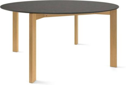 An Image of Custom MADE Niven 8 Seat Round Dining Table, Concrete and Oak