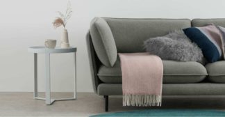 An Image of Burley Wool Throw 125 x 170cm, Dusky Pink