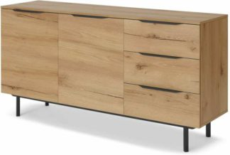 An Image of Damien Sideboard, Distressed Oak Effect & Black