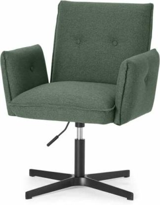 An Image of Denham Office Chair, Darby Green & Black Leg