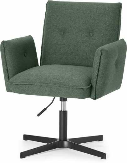 An Image of Denham Office Chair, Darby Green & Black Leg