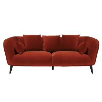 An Image of Purcell 3 Seater Sofa, Burnt Orange