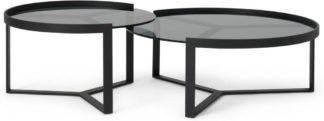 An Image of Aula Nesting Coffee Table, Black & Grey