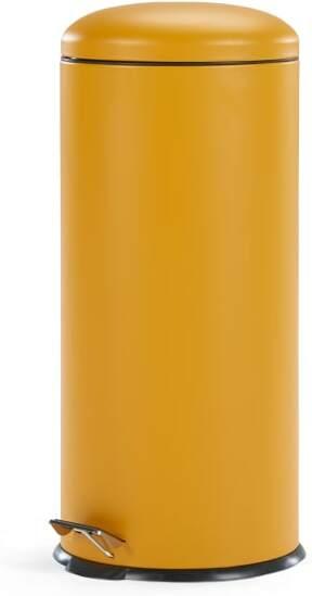 An Image of Joss 30L Domed Pedal Bin, Yellow