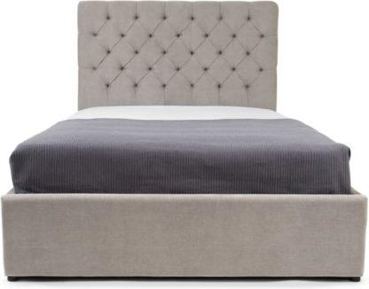 An Image of Skye Double Ottoman Storage Bed, Owl Grey