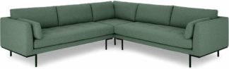 An Image of Harlow Corner Sofa, Darby Green