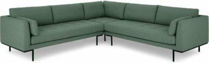 An Image of Harlow Corner Sofa, Darby Green