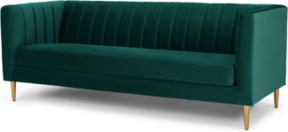 An Image of Amicie 3 Seater Sofa, Seafoam Blue velvet