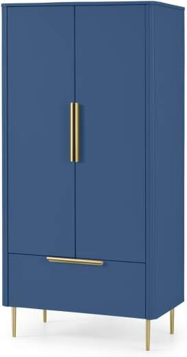 An Image of Ebro Double Wardrobe, Blue
