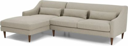 An Image of Herton Left Hand Facing Chaise End Sofa, Barley Weave
