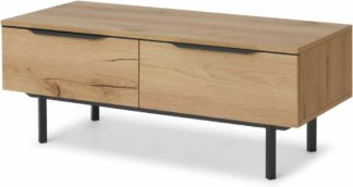 An Image of Damien Coffee Table, Distressed Oak Effect & Black