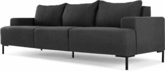 An Image of Oskar 3 Seater Sofa, Sterling Grey
