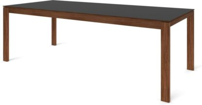 An Image of Custom MADE Corinna 10 Seat Dining Table, Grey HPL and Walnut