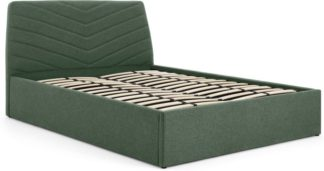 An Image of Lex Double Ottoman Storage Bed, Bay Green