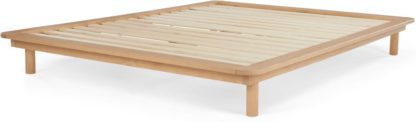 An Image of Kano Platform Double Bed, Pine