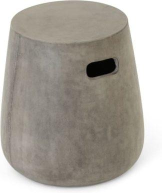 An Image of Edson Garden Stool, Grey