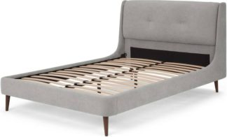 An Image of Raffety Double Bed, Soft Pebble Grey