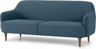 An Image of Lupo 3 Seater Sofa, Orleans Blue