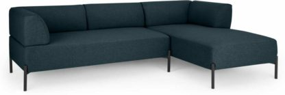 An Image of Kiva Right Hand Facing Chaise End Corner Sofa, Aegean Blue