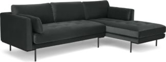 An Image of Harlow, Right Hand Facing Chaise End, Mourne Grey Velvet