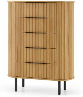 An Image of Tambo 5 Drawer Tall Chest, Oak