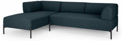 An Image of Kiva Left Hand Facing Chaise End Corner Sofa, Aegean Blue