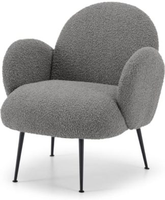 An Image of Bonnie Accent Armchair, Steel Boucle